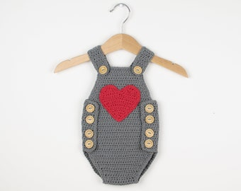 CROCHET PATTERN - Crochet Baby Romper Baby Joy /Onesie /Playsuit Baby Joy - Babay Overall- PDF