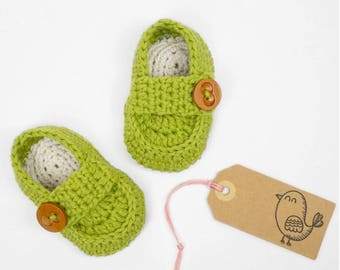 CROCHET PATTERN - Crochet Baby Booties Baby Loafers - Baby Shoes - PDF