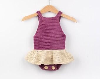 44871486c7b CROCHET PATTERN PDF - Crochet Baby Romper Little Ballerina - Baby Onesie