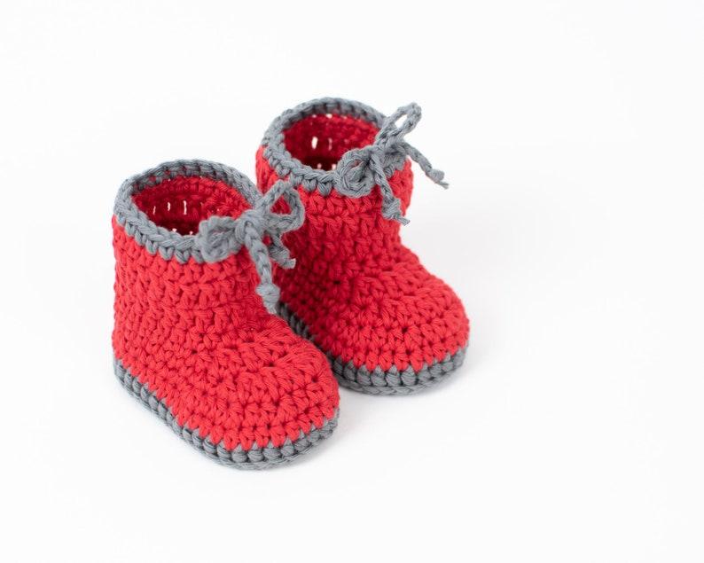 CROCHET PATTERN PDF  Crochet Baby Booties Shoes Sleepers image 0