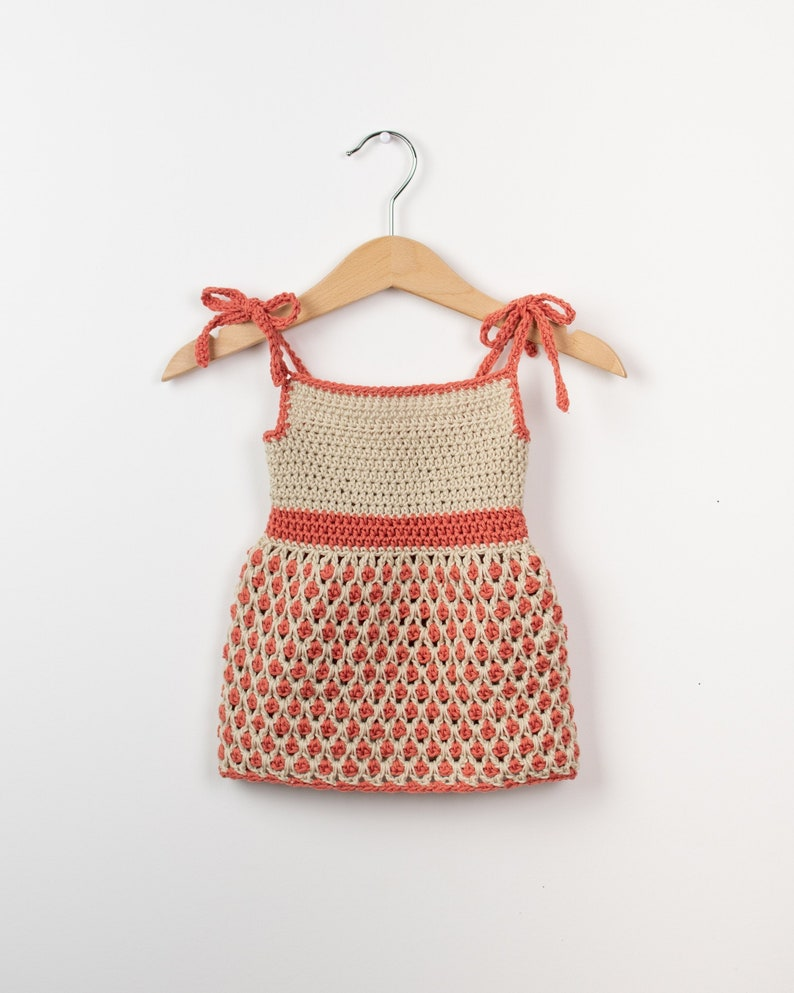 CROCHET PATTERN  Crochet Baby Dress Pattern Little Ladybug  image 0