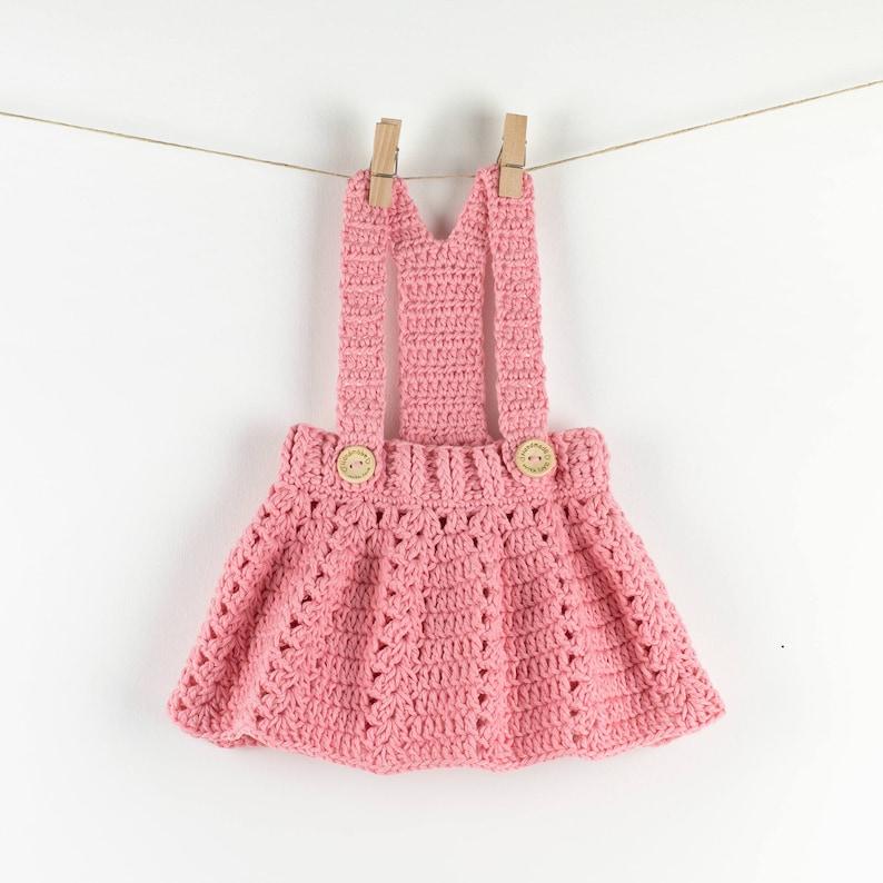 CROCHET PATTERN PDF  Crochet Baby Dress Peony Twirl  Baby image 0