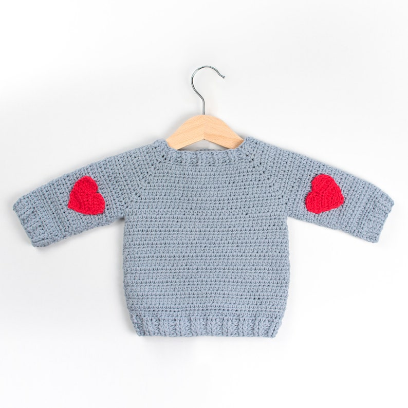Crochet Pattern Pdf Crochet Baby Sweater Red Heart Crochet Etsy