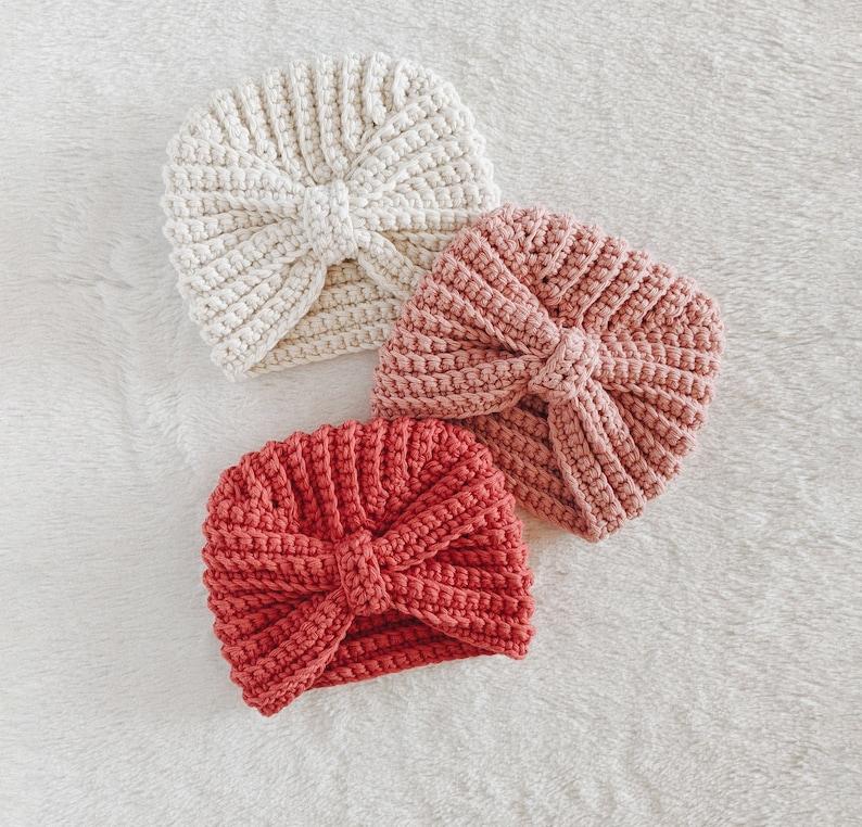 CROCHET PATTERN  Crochet Baby Turban Crochet Hat Crochet image 0