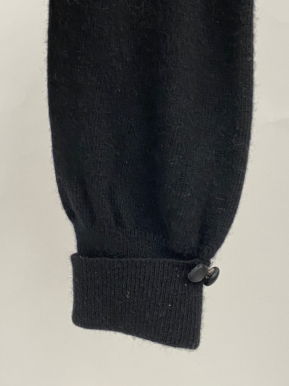 Vintage 1950's Cashmere & Lace Cardigan - image 7