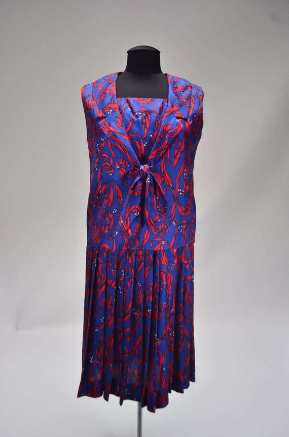 1960's/70's Two-Piece Silk Dress - image 2