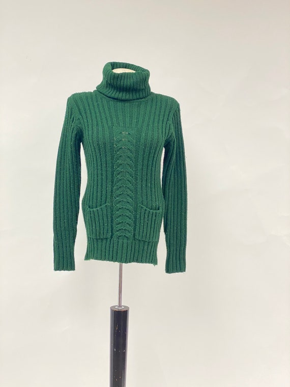 Vintage 1960's Acrylic Turtleneck Sweater