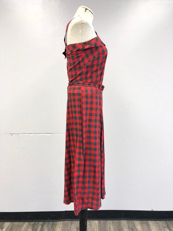 Vintage 1940's Tartan Plaid Dress - image 5