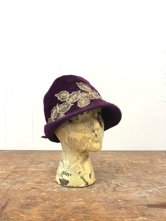 1920's Fur Felt Cloche Hat