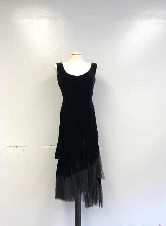 1920's Velvet Dress