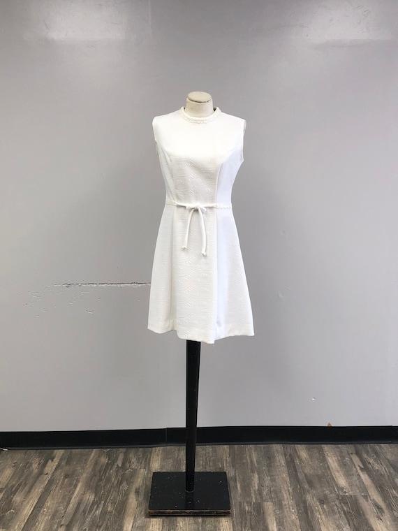 Vintage 60's/70's White Dress - image 1