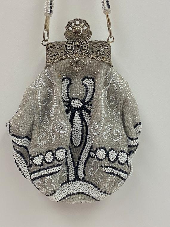 Vintage 1960's Beaded Evening Bag - image 3