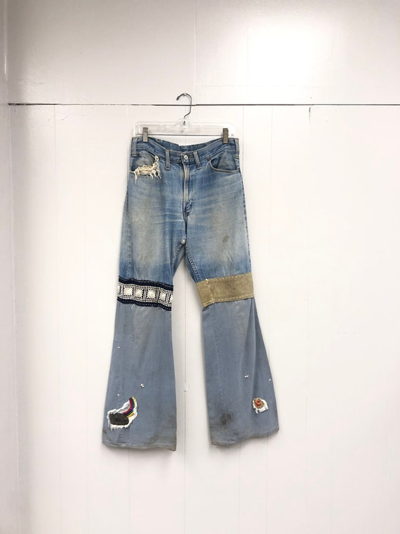 1970's One Of A Kind Patched Denim