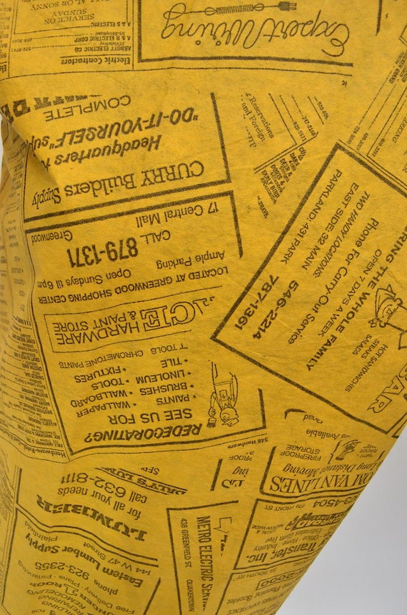 1960's Waste Basket Boutique Yellow Pages Paper D… - image 3