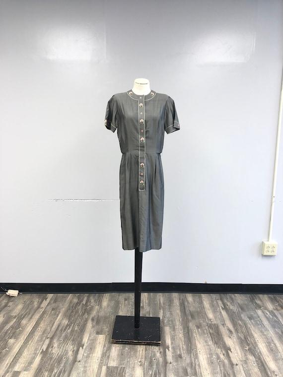Vintage 1940's/50's Silk Dress