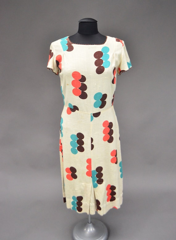 Vintage 1930's Linen Sheath Dress