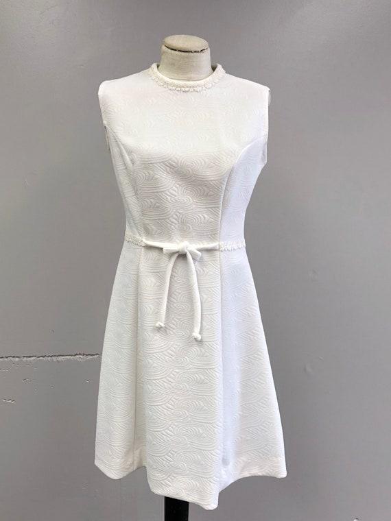 Vintage 60's/70's White Dress - image 2