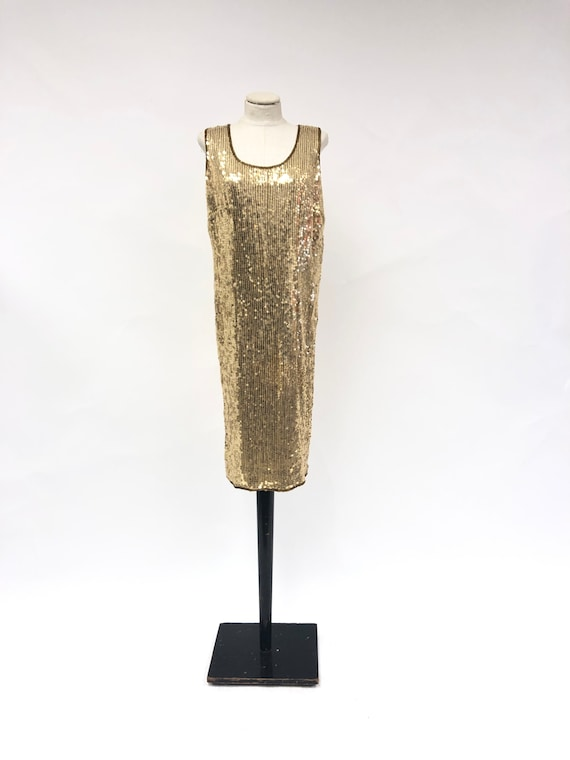 Vintage 1980's Sequin Shift Dress