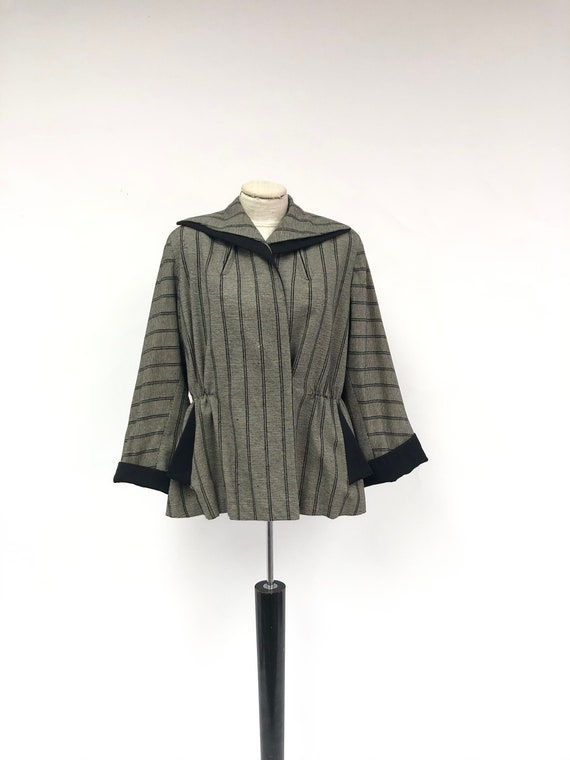 Vintage 1940's Striped Kimono Sleeve Jacket