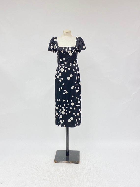Vintage 1990's Silk Polka Dot Dress