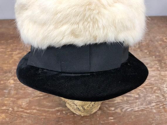 1960's Rabbit Fur and Velvet Hat - image 7