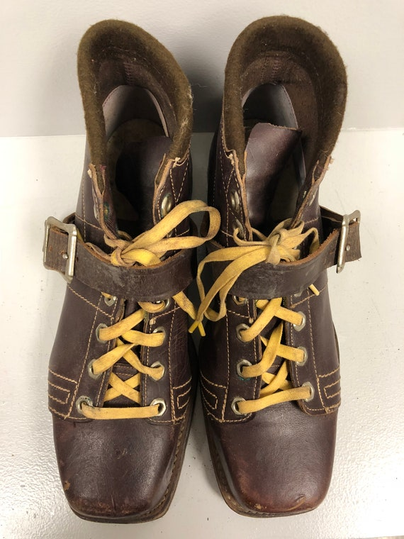 1970's Brown Leather Boots - image 3