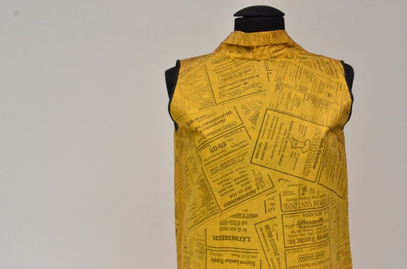 1960's Waste Basket Boutique Yellow Pages Paper D… - image 2