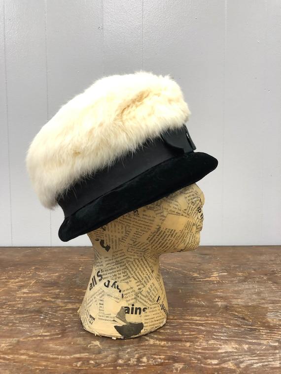 1960's Rabbit Fur and Velvet Hat - image 3