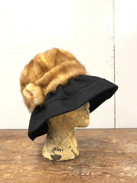 1970's Mink Fur Hat with Brim