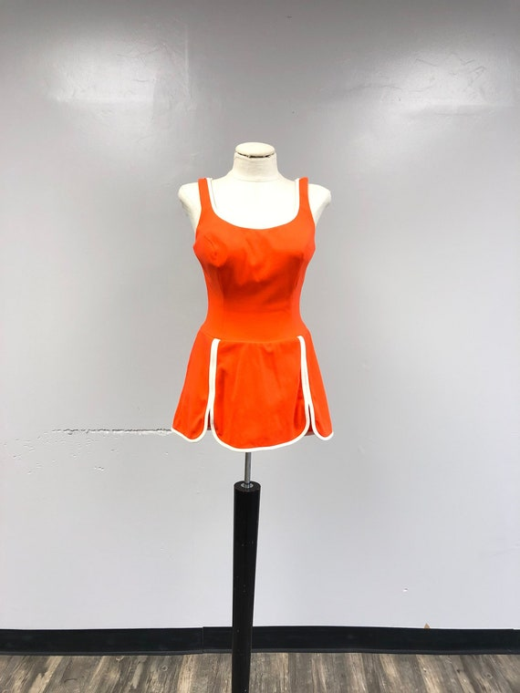 Neon Orange 1950's Sunsuit/Playsuit
