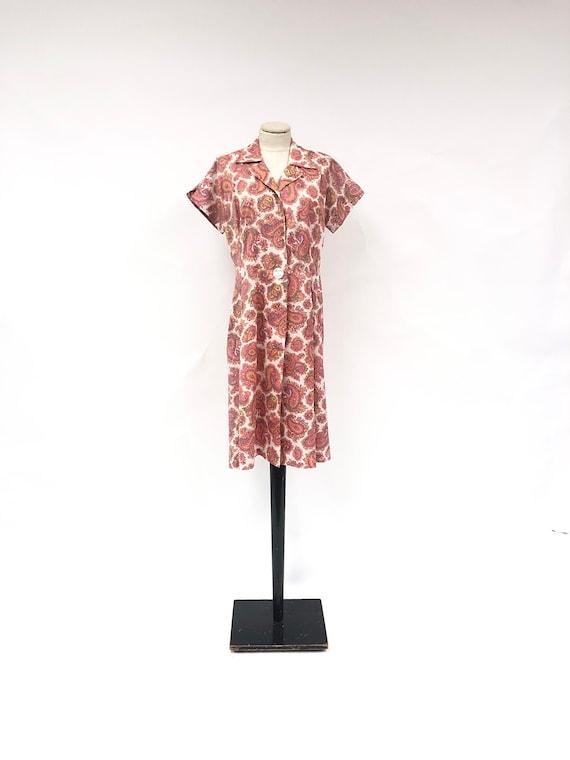 Vintage 50's/60's Paisley Silk House Coat