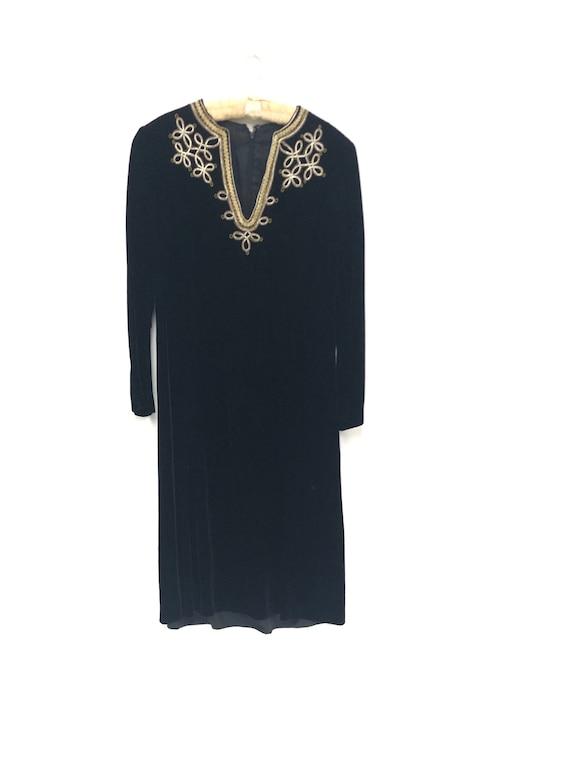 Vintage 1970's Velvet Tunic Dress