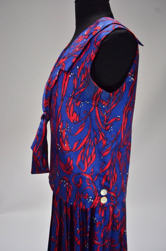 1960's/70's Two-Piece Silk Dress - image 3