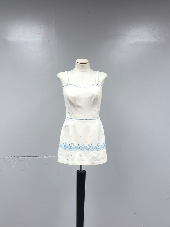 1950's Embroidered Playsuit/Sunsuit