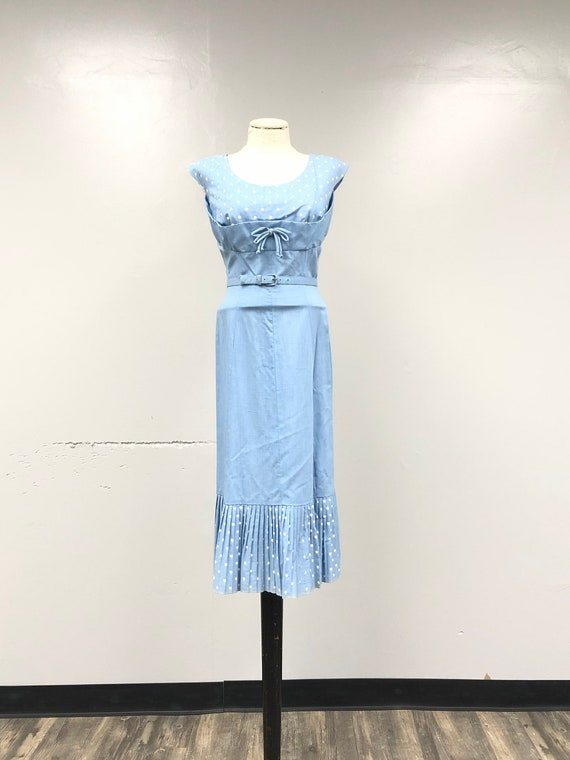 1950's Belted Sheath Dress