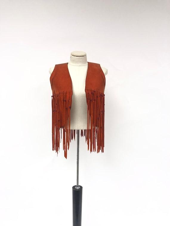 Vintage 1970's Suede Fringe Vest
