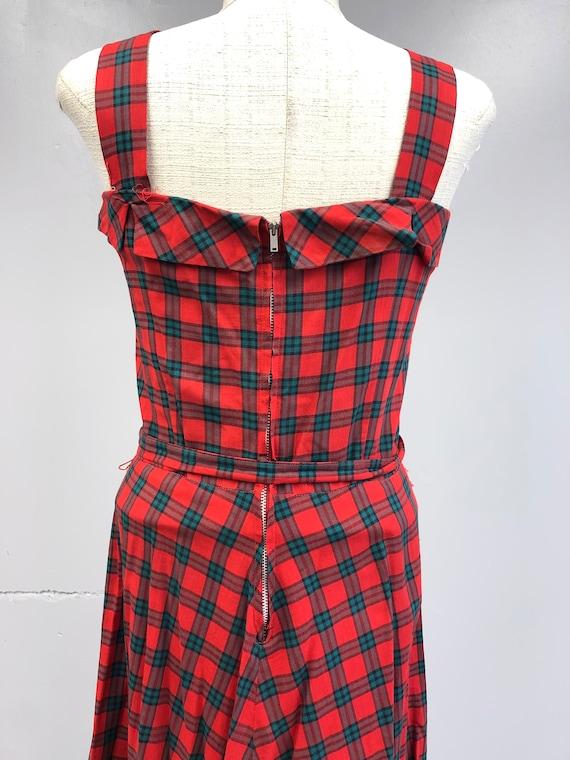 Vintage 1940's Tartan Plaid Dress - image 8