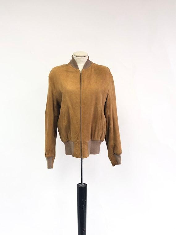 Vintage 1960's Suede Bomber Jacket