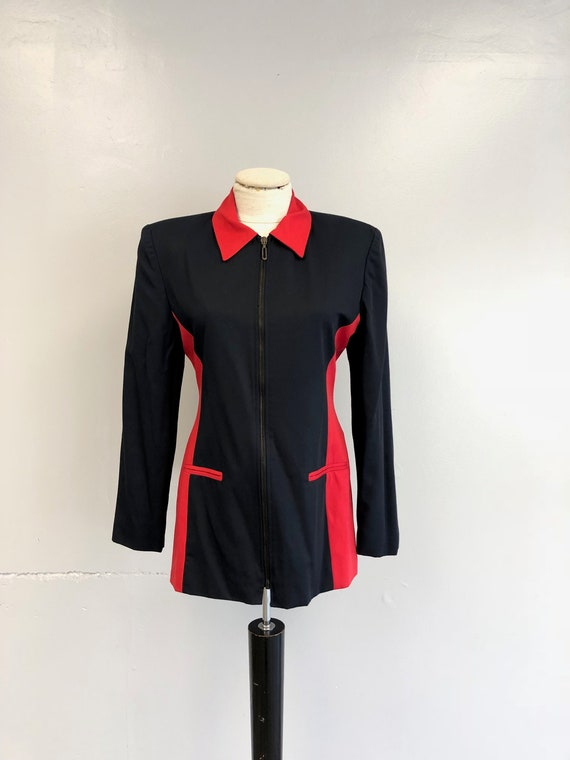 1980's Navy & Red Blazer