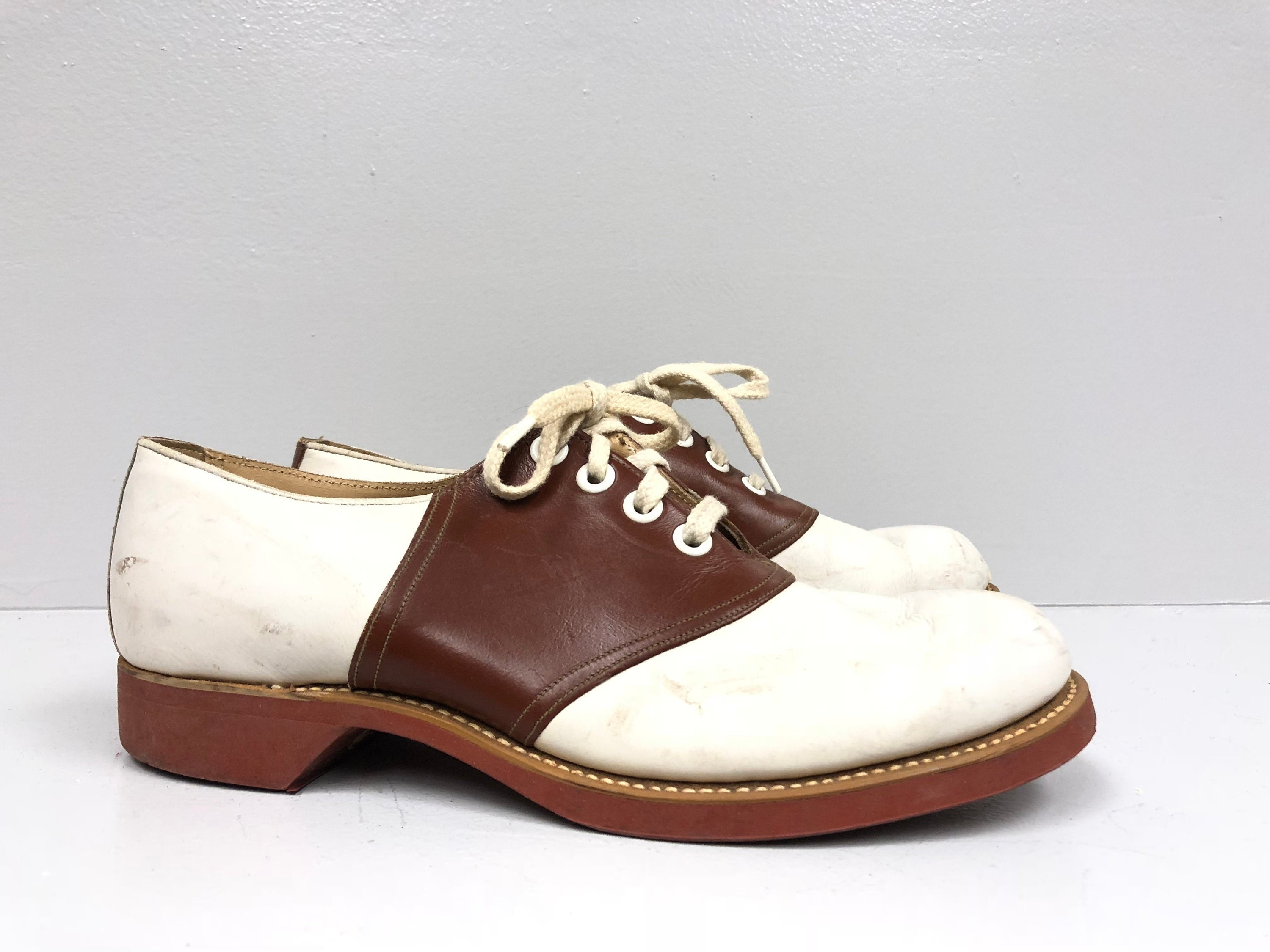432ef77f341c3 Brown Leather Saddle Shoes