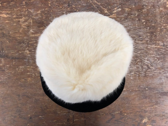 1960's Rabbit Fur and Velvet Hat - image 8