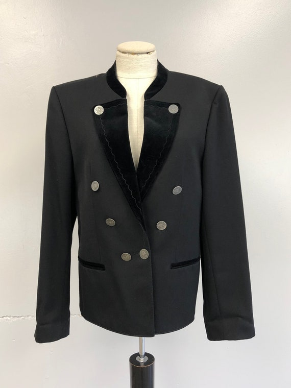 Wool Bavarian Jacket with Velvet Collar