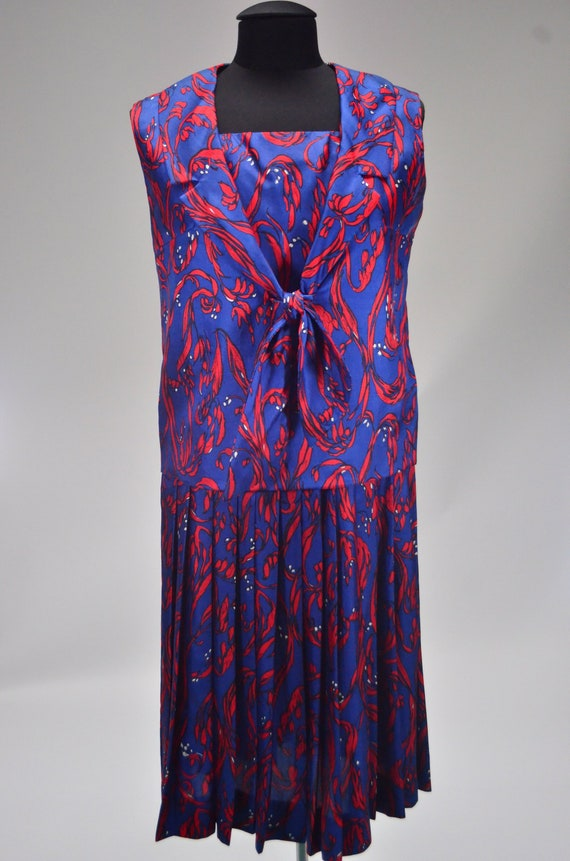 1960's/70's Two-Piece Silk Dress