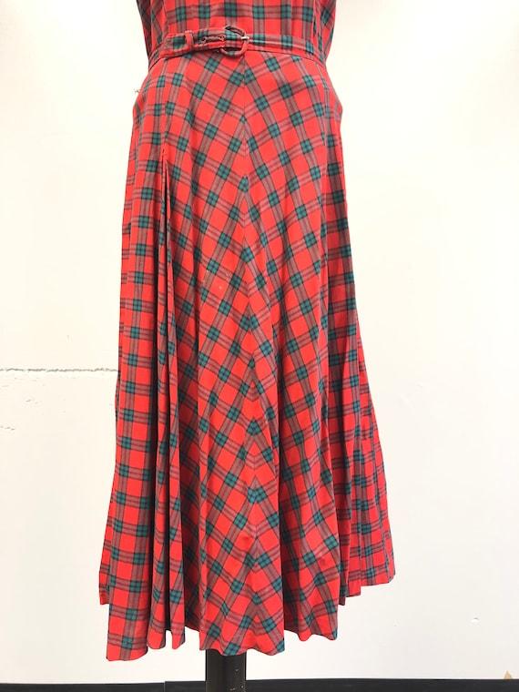 Vintage 1940's Tartan Plaid Dress - image 4