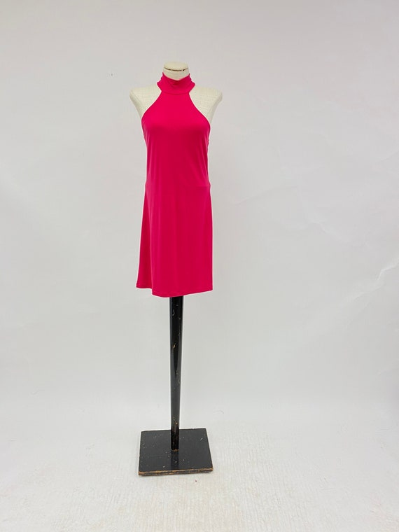 Vintage Frederick's of Hollywood Hot Pink Open Bac