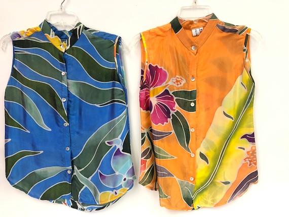 Set of 2 Vintage Silk Blouses