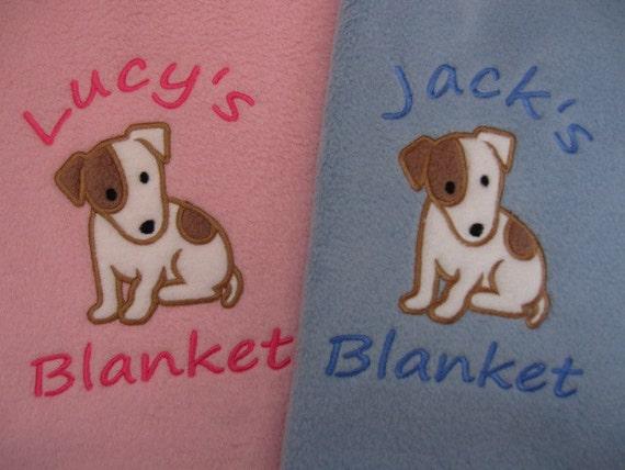 Personnalisé de chien / chiot couverture - polaire doux et confortable - Jack Russell chien
