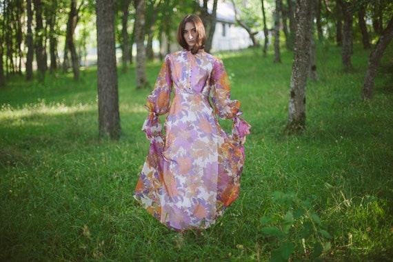Maxi Floral Boho Dress / Custom Made Dress