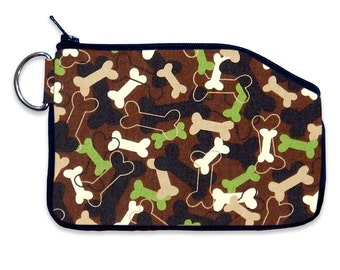 Dog Bone Coin Pouch Small Wallet, Small ID Wallet, Coin Purse, Purse Accessory, Bag Accessory