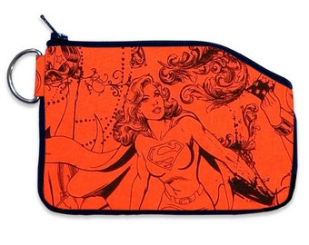 DC Comics Supergirl Coin Pouch Small Wallet, Small ID Wallet, Coin Purse, Purse Accessory, Bag Accessory
